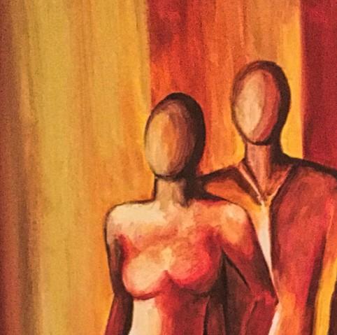 Bild Begegnungen Acryl auf Leinwand