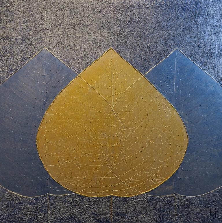 Bild Blätter Acryl auf Leinwand