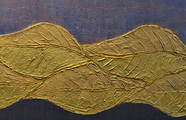 Bild Goldblätter Acryl auf Leinwand