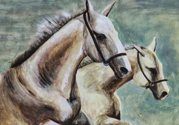 Bild Horses Acryl auf Leinwand