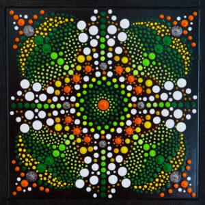 mandala Biham im schwarzen Rahmen