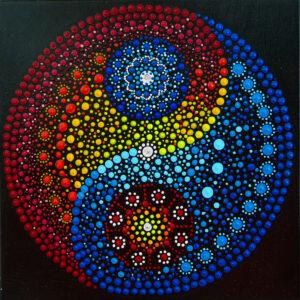 Mandala Yin Yang Color