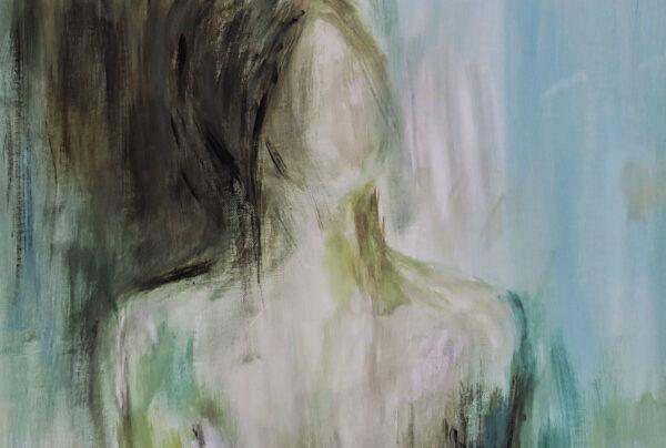 Bild Gently Lady Acryl auf Leinwand