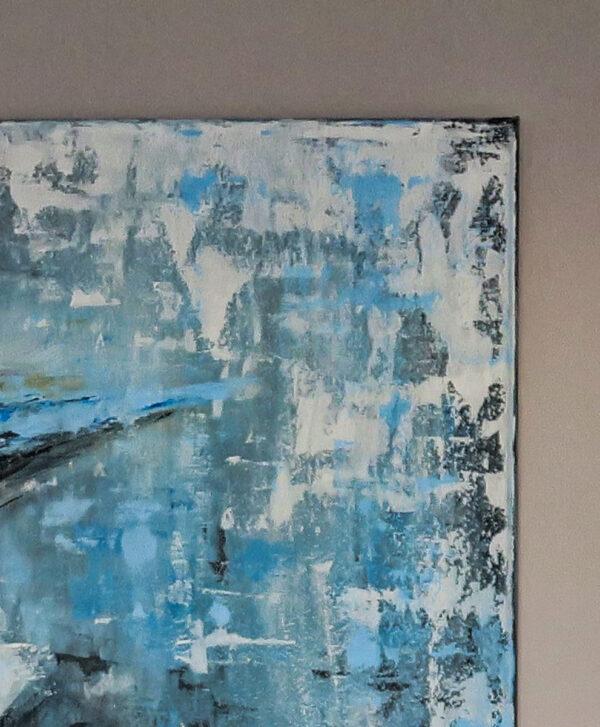 Bild Lady in Blue Acryl auf Leinwand