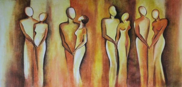 Bild Love Pastellkreide auf Leinwand