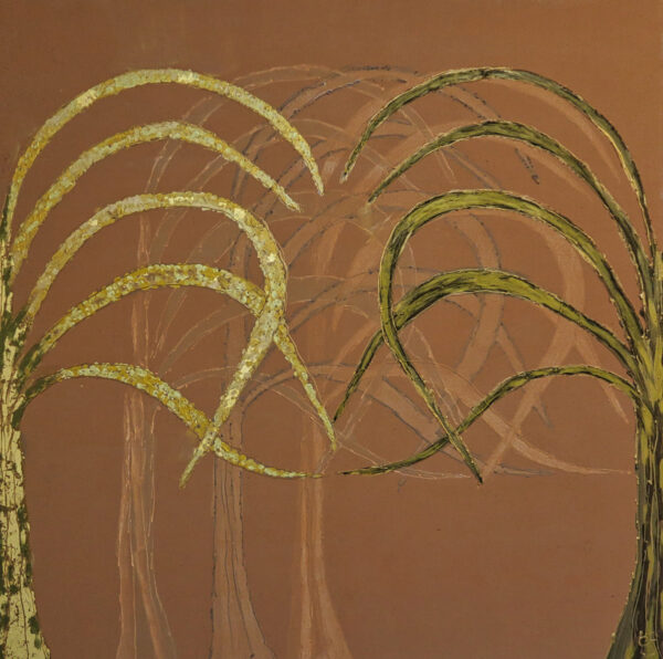 Bild Palmenhain Acryl auf Leinwand
