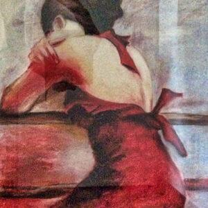 Bild Sad Lady Acryl auf Leinwand