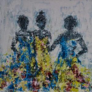 Bild Trois Femmes Acryl auf Leinwand