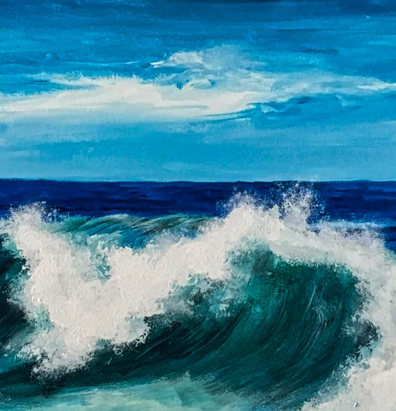 Bild Die Welle Acryl auf Leinwand