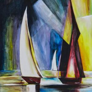 Bild White Sails Acryl auf Leinwand